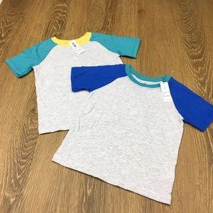 2 NWT Old Navy Raglan Tee Shirts - Size 3T